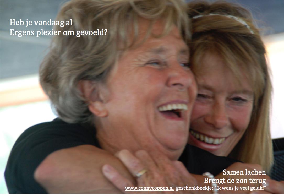 samen lachen