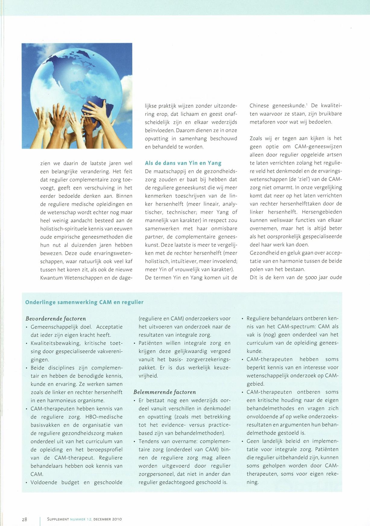 Pagina 2 Artikel  Respectvolle samenwerking in een gezonde gezondheidszorg