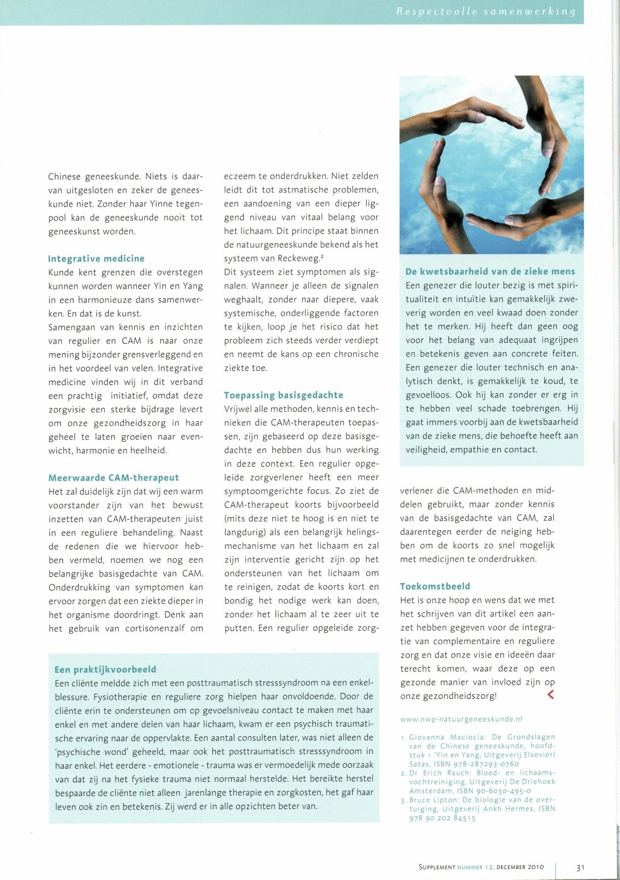 Pagina  4 Artikel  Respectvolle samenwerking in een gezonde gezondheidszorg