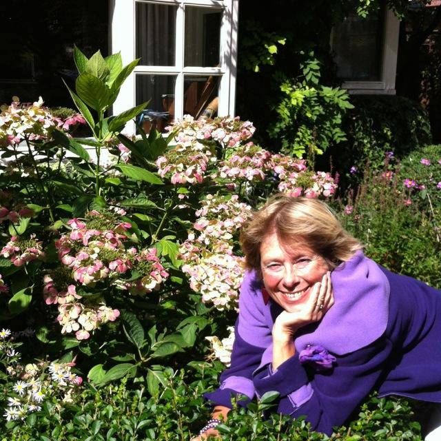 CC paars in bloemen thuis